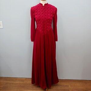 Red Velvet Rennaissance Style Robe Size Small
